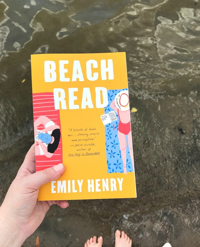 Sweet Reads Box Beach Read Box June 2020 Beach Read by Emily Henry at the water