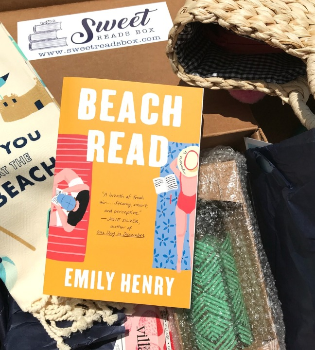 Sweet Reads Box Beach Read Box June 2020 Beach Read by Emily Henry in the box