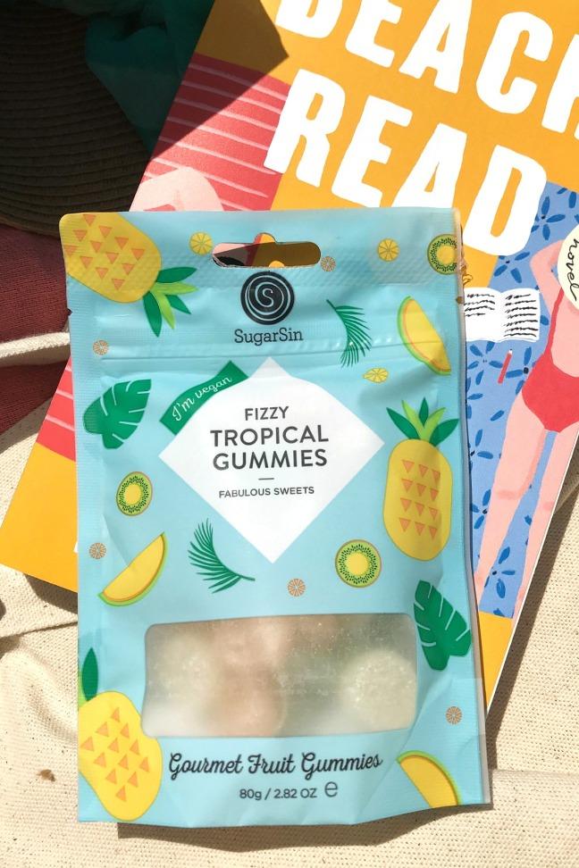 Sweet Reads Box Beach Read Box June 2020 SugarSin Fizzy Tropical Gummies vegan
