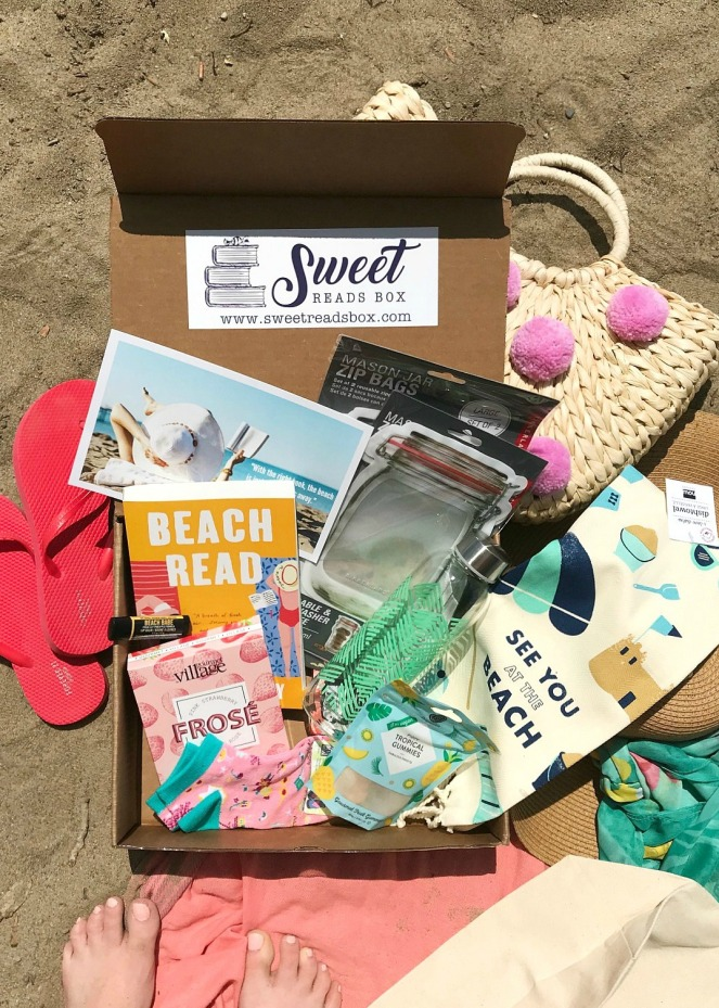 Sweet Reads Box June 2020 Beach Read Box full contents flatlay TST