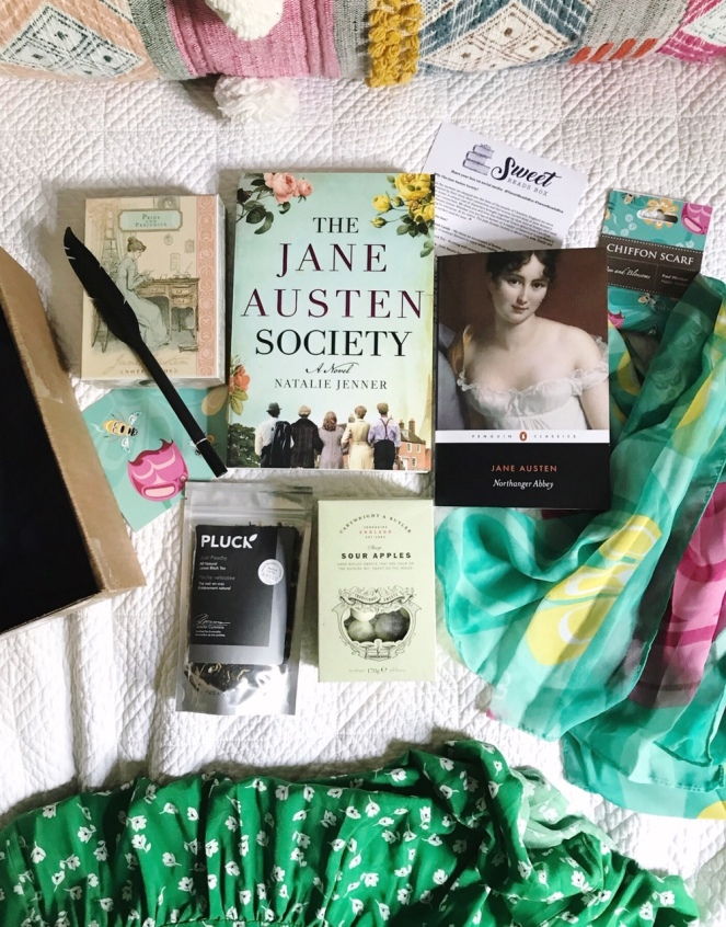 Sweet Reads Box June 2020 full contents bright