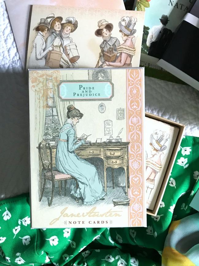 Sweet Reads Box June 2020 Jane Austen Note Cards