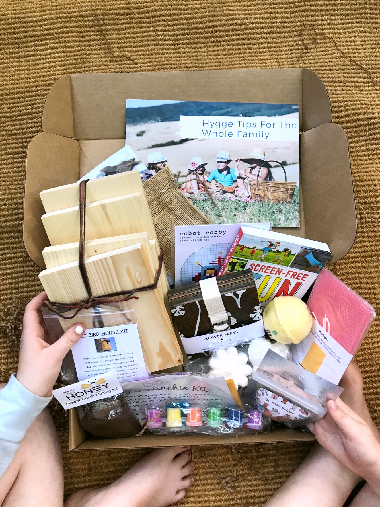 Kids Hygge Box full contents
