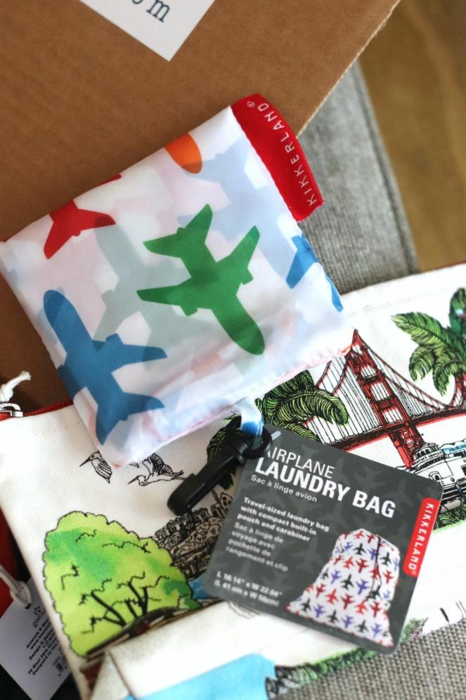 Sweet Reads Box July 2020 Kikkerland Airplane Laundry Bag