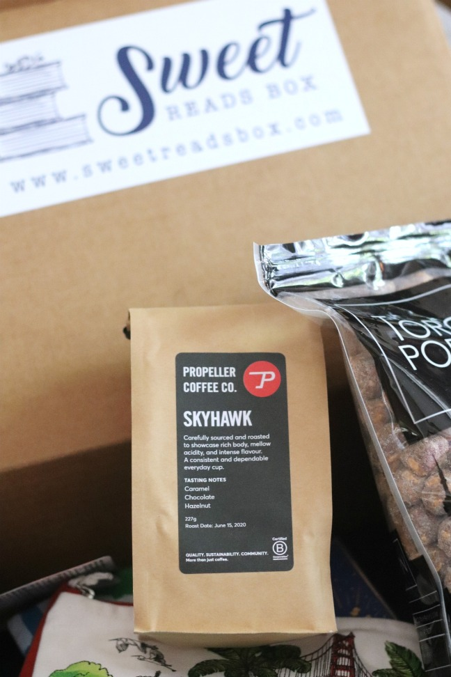 Sweet Reads Box July 2020 Propeller Coffee Co Skyhawk coffee