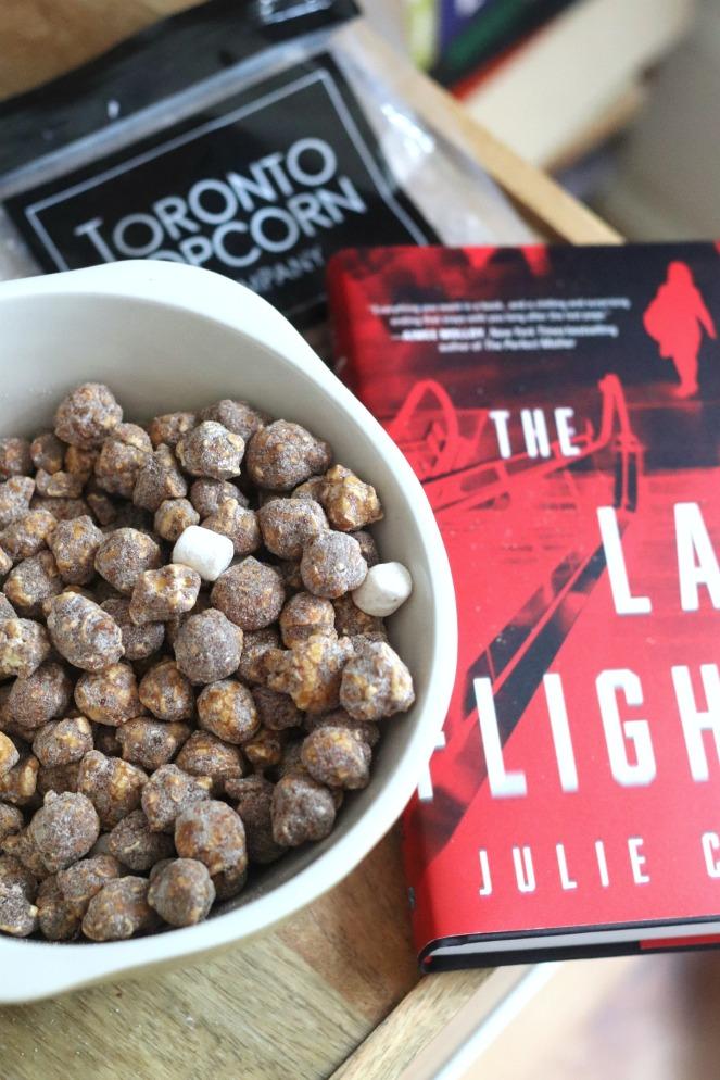 Sweet Reads Box July 2020 Toronto Popcorn Co Rocky Road popcorn in bowl
