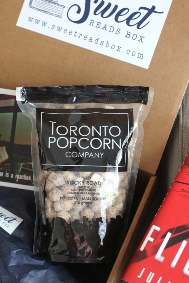 Sweet Reads Box July 2020 Toronto Popcorn Co Rocky Road popcorn
