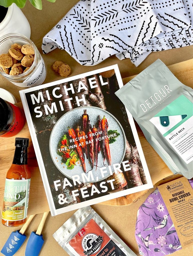 This image has an empty alt attribute; its file name is sweet-reads-box-august-2021-the-cooks-box-farm-fire-feast-by-michael-smith-closer.jpg